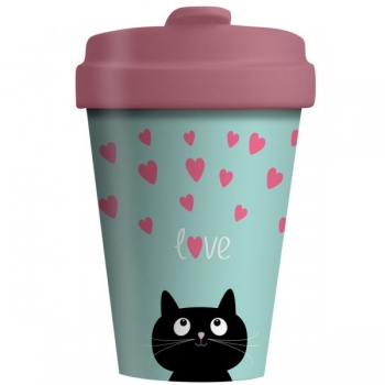 Bamboo Cup - Kitty Love