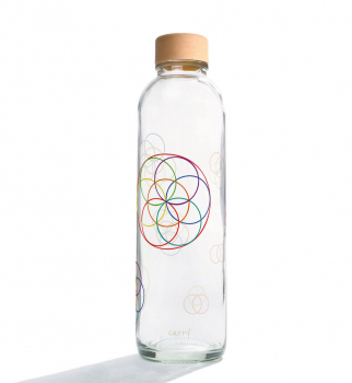 Carrybottles Glastrinkflasche 700ml - Flower of Life -