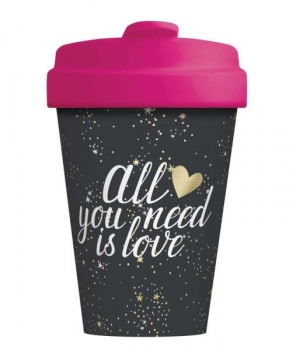 Bamboo Cup - All you need is Love